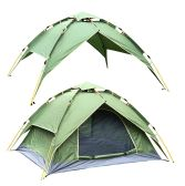 2 Units of CAMPING TENT GREEN 3-4 PEOPLE - Camping Gear