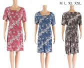 12 Units of Medium Length Floral Dresses with waist ties - Womens Sundresses & Fashion