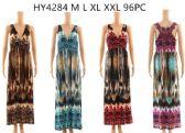 96 Units of Maxi Lace Back Long Dresses Assorted - Womens Sundresses & Fashion