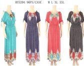 96 Units of Open Shoulder Scoop Neckline Maxi Dresses - Womens Sundresses & Fashion