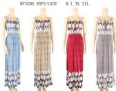 96 Units of Spaghetti Strap Maxi Long Front Tie Dresses - Womens Sundresses & Fashion