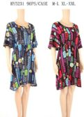 96 Units of Short dresses with scoop neck - Womens Sundresses & Fashion