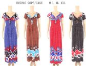 96 Units of Tie Center Long Maxi Floral Dresses Assorted - Womens Sundresses & Fashion