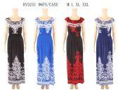 96 Units of Scoop Neck With Fringe Long Dresses Assorted - Womens Sundresses & Fashion