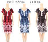 96 Units of Lace Neckline Short Summer Dresses Assorted - Womens Sundresses & Fashion