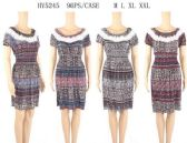 96 Units of Short Scoop Neck Summer Dresses with Paisley Pattern - Womens Sundresses & Fashion