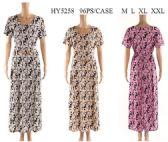 96 Units of Leaf Pattern short sleeve dresses assorted - Womens Sundresses & Fashion