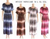 96 Units of Long Scoop neck Ombre Effect long dresses - Womens Sundresses & Fashion
