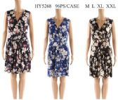 96 Units of Short Dresses with Flower Prints - Womens Sundresses & Fashion