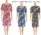 96 Units of Short Tie Back Floral Dresses Assorted - Womens Sundresses & Fashion
