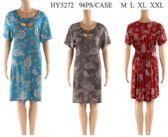96 Units of Short Sleeve Paisley Pattern Open Front Dresses - Womens Sundresses & Fashion