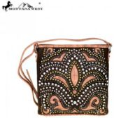 6 Units of Montana West Bling Bling Collection Crossbody Bag Coffee - Wallets & Handbags