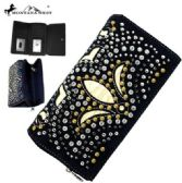 6 Units of Montana West Bling Bling Collection Secretary Style Wallet - Wallets & Handbags