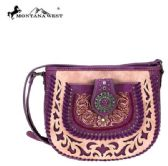 6 Units of Montana West Concho Collection Crossbody Purple - Wallets & Handbags