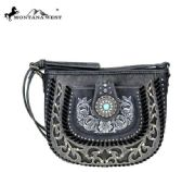 6 Units of Montana West Concho Collection Crossbody Gray - Wallets & Handbags