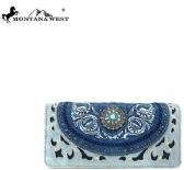6 Units of Montana West Concho Collection Wallet BLUE - Wallets & Handbags