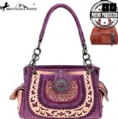 4 Units of Montana West Concho Collection Concealed Carry Satchel Purple - Wallets & Handbags