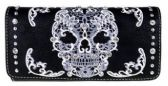 6 Units of Montana West Sugar Skull Collection Wallet Black White - Wallets & Handbags