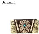 6 Units of Montana West Concho Collection Wallet Brown - Wallets & Handbags