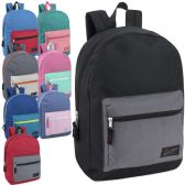 24 Units of Urban Sport 17 Inch Color Block Backpack - Backpacks 17""