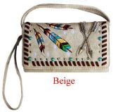 6 Units of Western Wallet Purse with Arrow Beige - Shoulder Bags & Messenger Bags