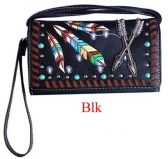 6 Units of Western Wallet Purse with Arrow Black - Shoulder Bags & Messenger Bags