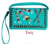 6 Units of Tribal arrow wallet purse turquoise - Shoulder Bags & Messenger Bags