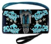 6 Units of Buckle with Embroidery Wallet Purse - Shoulder Bags & Messenger Bags