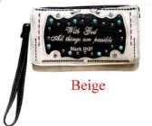 6 Units of Bible Verse Wallet Purse Beige - Shoulder Bags & Messenger Bags