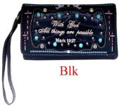 6 Units of Bible Verse Wallet Purse Black - Shoulder Bags & Messenger Bags