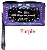 6 Units of Bible Verse Wallet Purse Purple - Shoulder Bags & Messenger Bags