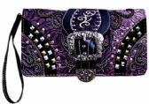 6 Units of Western Buckle Wallet Purse Purple - Shoulder Bags & Messenger Bags