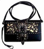 6 Units of Western Buckle Wallet Purse Black Beige - Shoulder Bags & Messenger Bags