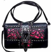 6 Units of Buckle Cut Out Pattern Western Wallet Purse - Shoulder Bags & Messenger Bags