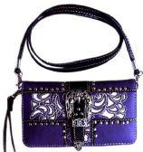 6 Units of Western Buckle Wallet Purse Purplee - Shoulder Bags & Messenger Bags