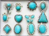 96 Units of Turquoise style Ring - Rings