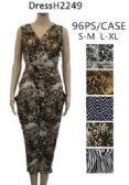 96 Units of Animal Print Romper Sets V Neck Smocked Waistes - Womens Rompers & Outfit Sets