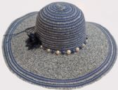 36 Units of Ladies Large Hat with Pearls - Sun Hats