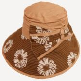 36 Units of Ladies Sun Hat with Bow - Sun Hats