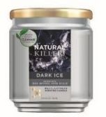 6 Units of Natural Killer 130z Candle With Clean Air Technology Odor Eliminator, Dark Ice - Candles & Accessories