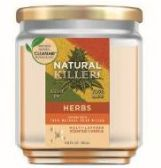 6 Units of Natural Killer 130z Candle With Clean Air Technology Odor Eliminator, Herbs - Candles & Accessories
