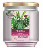 6 Units of Natural Killer 130z Candle With Clean Air Technology Odor Eliminator, Floral - Candles & Accessories