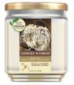 6 Units of Natural Killer 130z Candle With Clean Air Technology Odor Eliminator, Cookies And Cream - Candles & Accessories