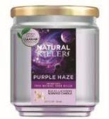 6 Units of Natural Killer 130z Candle With Clean Air Technology Odor Eliminator,Purple Haze - Candles & Accessories
