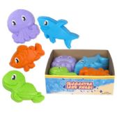 72 Units of Sand Mold Sea Animals - Beach Toys