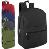 24 Units of 17 Inch Promo Backpack - Assorted Colors - Backpacks 17""