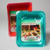 60 Units of Aluminum Roasters Baking Pans Red Green - Aluminum Pans