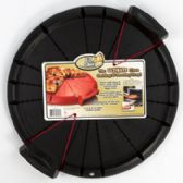 30 Units of Pizza Cutting Serving Tray Black Plastic With Handles Easy Slice - Kitchen Gadgets & Tools