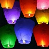 40 Units of Colorful Sky Lantern - LED Party Supplies