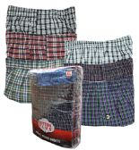 36 Units of Men's 3 Pack Brown Cotton Boxer Shorts, Size 2XLarge - Mens Underwear
